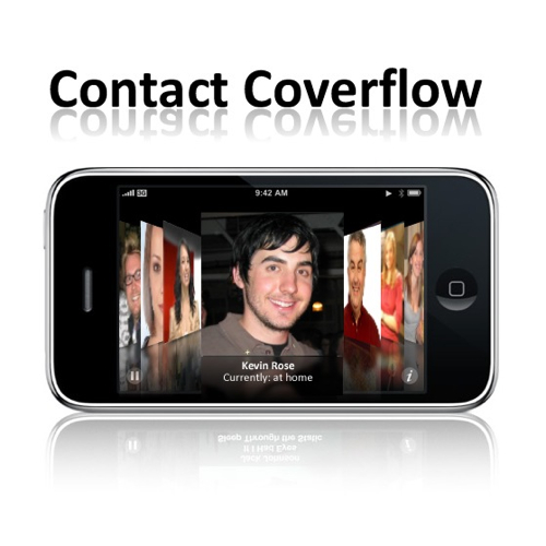 iPhone Contacts on CoverFlow