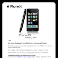 iPhone Coming to Singapore on 22nd August